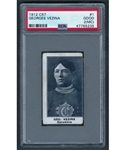 1912-13 Imperial Tobacco C57 PSA-Graded Hockey Card Collection of 5 Including HOFers #1 Georges Vezina (PSA 2 MC), Paddy Moran (PSA 1), Punch Broadbent Rookie (PSA 3 MC) and Tom Dunderdale (PSA 2)