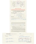Henri Richards 1955-56/1956-57 Montreal Canadiens Official NHL Contract Signed by Deceased HOFers Richard, Northey and Campbell - His Rookie Season Contract!