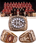 Jacques Laperrieres 1985-86 Montreal Canadiens Stanley Cup Championship 10K Gold and Diamond Ring with His Signed LOA