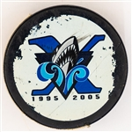 QMJHL Rimouski Oceanic May 6th 2005 Game-Used Puck From Sidney Crosby Last Playoff Home Game in Rimouski