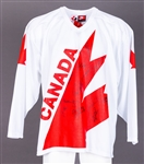 1976 Canada Cup Team Canada Multi-Signed Jersey Including Bobby Orr, Bobby Hull, Darryl Sittler and Scotty Bowman