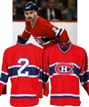 Gaston Gingras Early-1980s Montreal Canadiens Game-Worn Jersey Obtained from Team with LOA - 50+ Team Repairs!