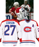 Shayne Corsons 1990-91 Montreal Canadiens Game-Worn Alternate Captains Jersey