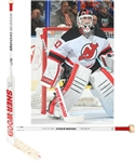 Martin Brodeurs 2013-14 New Jersey Devils Signed Sher-Wood SL700 Game-Used Stick with LOA - Photo-Matched!