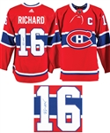 Henri Richard Signed Montreal Captains Jersey with LOA