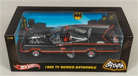 Batman's Adam West and Burt Ward Signed Hot Wheels Limited-Edition 1966 TV Series 1:18 Scale Batmobile and 1:12 Scale Batcycle & Sidecar – Both in Original Packaging with COAs