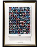"Henri Richards ""100 Greatest NHL Players"" Limited-Edition Framed Display AP 16/100 from His Personal Collection with Family LOA (32"" x 43 ½"")"