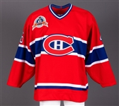Montreal Canadiens 1992-93 Game-Issued Jersey Obtained from Team with LOA - 1993 Stanley Cup Finals Patch!