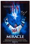 "Jim Craig Team USA Signed ""1980 Gold"" Mounted Miracle Movie Poster and Goalie Stick with LOA"