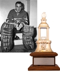 "Jacques Plante's 1957-58 Montreal Canadiens Vezina Trophy with Family LOA (13"")"