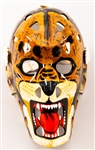 "Gilles Gratton New York Rangers Signed Mikula ""Tiger"" Replica Goalie Mask with LOA"