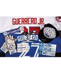 Vladimir Guerrero Jr. 2016 Bluefield Blue Jays Signed Game-Worn Cap, Signed Game-Used Gloves and Signed Nameplate Plus Dunedin Blue Jays Signed 2018 First Pitch Worn Shirt and Other Items