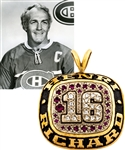 "Henri Richards Commemorative Number ""16"" Montreal Canadiens 10K Gold Pendant"