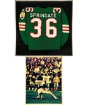 George Springates 1970 Montreal Alouettes Game-Worn Grey Cup Jersey with Family LOA - Also Worn During the 1971 Season