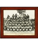 George Springates Pre-CFL Football Memorabilia Collection Including 1963 Hochelaga Helcats Framed Team Photo with Family LOA