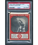 1933-34 Canadian Gum V252 Hockey Card HOFer Charlie Conacher Rookie - Graded PSA 5