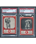 1933-34 Canadian Gum V252 Hockey Cards of HOFer Hap Day (Graded PSA 5) and HOFer Red Horner RC (Graded PSA 4.5)