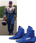 Jacques Villeneuves 1997 Rothmans Williams Renault F1 Team Signed Race-Worn Sparco Boots with His Signed LOA – From Championship Season!