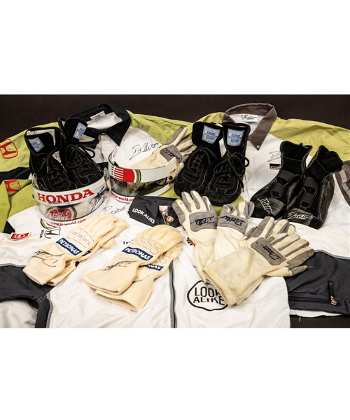 Jacques Villeneuves 2000-2003 Lucky Strike BAR Honda F1 Team Collection of 19 Including 2002 and 2003 Race-Worn Items (10 – Most Signed) Plus Team Clothing and More with His Signed LOA