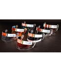 Jacques Villeneuves 1999-2002 Lucky Strike BAR Honda F1 Team Signed Race-Issued/Race-Worn Visor Collection of 7 with His Signed LOA