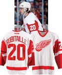 "Luc Robitailles 2001-02 Detroit Red Wings ""611th Career Goal - #1 Goal Scoring Left Winger in NHL History"" Game-Worn Jersey with His Signed LOA"