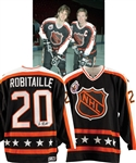 Luc Robitailles 1993 NHL All-Star Game Campbell Conference Signed Game-Worn Jersey from His Personal Collection with His Signed LOA