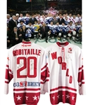 Luc Robitailles 2004 Larionov Farewell Game Team World Game-Worn Jersey with His Signed LOA