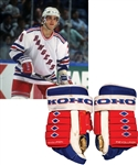Luc Robitailles 1994-95 New York Rangers Koho Game-Used Gloves Plus 2001 All-Star Game North American All-Stars Game-Worn Pant Shell and Official Framed Team Photo with His Signed LOA