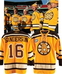 Derek Sandersons 2010 Boston Bruins Winter Classic Event-Worn Jersey from His Personal Collection with His Signed LOA