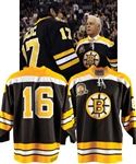 Derek Sandersons 1969-70 Boston Bruins Stanley Cup Champions 40th Anniversary Signed Event-Worn Jersey from His Personal Collection with His Signed LOA