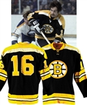 Derek Sandersons 1971-72 Boston Bruins Game-Worn Jersey from His Personal Collection with His Signed LOA - Stanley Cup Championship Season! Photo-Matched!