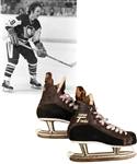 Derek Sandersons 1977-78 Pittsburgh Penguins CCM Tacks Game-Used Skates from His Personal Collection with His Signed LOA