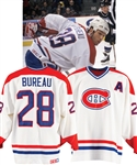 Marc Bureaus Mid-1990s Montreal Canadiens Game-Worn Alternate Captains Jersey Obtained from Team with LOA
