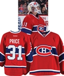 Carey Prices 2011-12 Montreal Canadiens Game-Worn Jersey - Team Repairs! - Photo-Matched!