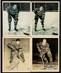 Montreal Canadiens 1945-54 Signed Quaker Oats Photos (34) with Numerous Deceased HOFers Including Toe Blake, Buddy OConnor, Maurice Richard and Others