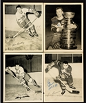Toronto Maple Leafs 1945-54 Signed Quaker Oats Photos (34) with Numerous Deceased HOFers Including Max Bentley, Ted Kennedy, Harry Lumley and Others