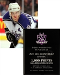 "Luc Robitailles October 11th 2000 ""1,000 Points as a Los Angeles King"" Milestone Award from His Personal Collection with His Signed LOA"