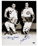 Henri Richard and Maurice Richard Dual-Signed Montreal Canadiens Photo with LOA