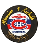 Henri Richard and Maurice Richard Dual-Signed Montreal Canadiens Puck with LOA
