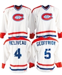 Montreal Canadiens HOFers Single-Signed Jerseys (7) Plus HOFer Signed/Multi-Signed Hockey Sticks (5) from George Springates Collection with Family LOA