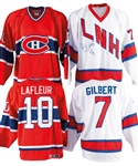 Montreal Canadiens Oldtimers March 10th, 1996 Multi-Signed Jerseys (6) and Sticks (4), Guy Lafleurs and Rod Gilberts Game-Worn Jerseys from Event from George Springates Collection with Family LOA