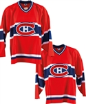 "Deceased HOFer Maurice ""Rocket"" Richard Single-Signed Montreal Canadiens Jerseys (5) from George Springates Collection with Family LOA"