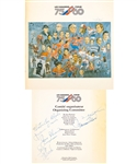 Montreal Canadiens 75th Anniversary Dream Team Program Signed By 7 Including Deceased HOFers Plante, Harvey, Blake, Richard, Beliveau and Moore from George Springates Collection with Family LOA