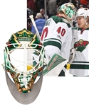 Devan Dubnyk's 2016-17 Minnesota Wild Game-Worn Bauer Goalie Mask with LOA - Photo-Matched to Regular Season, All-Star Game and Playoffs!