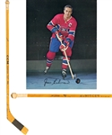 Jean Beliveaus 1960s Montreal Canadiens CCM Game-Used Stick