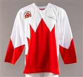 Paul Henderson Signed 1972 Canada-Russia Series Team Canada Jersey and Puck with LOA