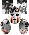 Gary Inness 1974-76 Pittsburgh Penguins and 1975-76 Philadelphia Flyers Game-Worn Greg Harrison Fiberglass Goalie Mask with LOAs - Photo-Matched!
