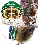 Peter Sidorkiewiczs Late-1980s/Early-1990s Hartford Whalers Game-Worn Cooper Goalie Mask and Brians Game-Worn Goalie Glove with His Signed LOA