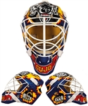 Curtis Josephs 1994-95 St. Louis Blues Practice-Worn Goalie Mask by Ed Cubberly