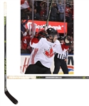 Sidney Crosbys 2016 World Cup of Hockey Team Canada Signed CCM Ribcore Game-Used Stick with LOA - Photo-Matched to Game 2 of the Finals!
